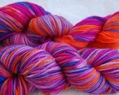 handdyed Yarn, 100g/ 3,5oz , colour Sommerblumen