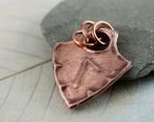 Copper Rune Pendant - Shield Shape Viking Style - Choose your rune