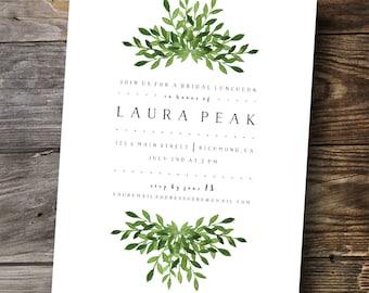 Simple Leaves Invitation Design