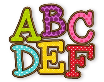 BX font included! Smarty Applique Alphabet Font Machine Embroidery Design 4 sizes  AL020