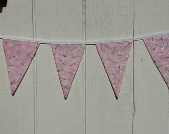 Fairy Wand Pendant Banner, Star Bunting, Fairy Birthday Party Decor, Girls Bedroom Decor, Nursery Decor