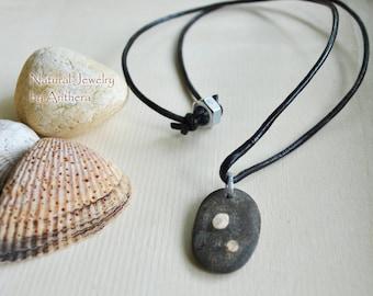 Unique natural jewelry - men's necklace - tribal - urban organic eco friendly