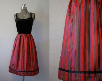 1970s does 1950's Holiday Dress / Size Small