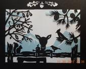 Forest Animals Scherenschnitte Papercut Art