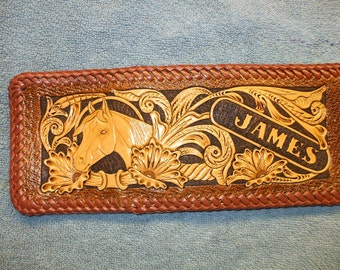 put your name here .personalized Horse wallet / billfold  (14)( I ship the same day as you order )