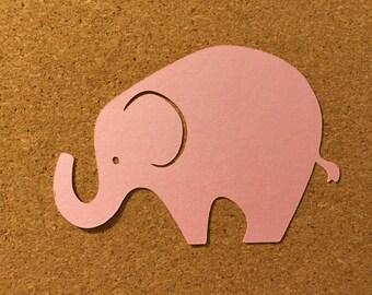 10 Elephant die cuts, large paper Elephants, Elephant embellishments, Elephant gift tags