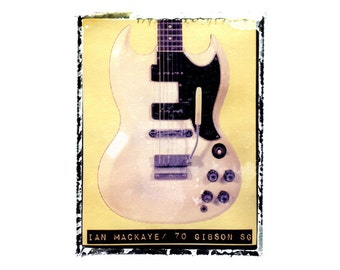 Fugazi Ian Mackaye guitar art print / music gift / rock n roll art / music room decor / guitar gift / man cave art