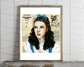 Paper Print of Judy Garland as Dorothy from The Wizard of Oz
