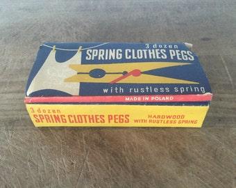 Vintage clothes pegs