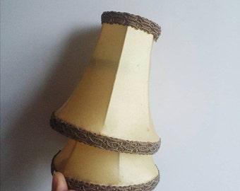 SALE Vintage Pair of Soft Golden Boudoir Lamp Shades