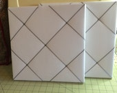 12X12   White Fabric  Memo Board
