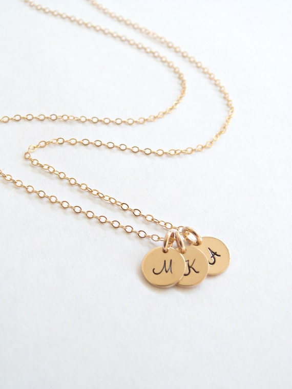 Gold Tiny Disc Necklace