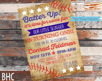 Baseball Birthday Party. Baseball Birthday Invitation. Baseball Party Invitation. Baseball Invite. Baseball Party. Vintage Baseball Invite.