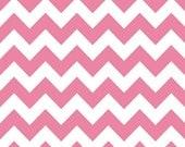 Hot Pink Chevron - Riley Blake Fabric - 1 Yard of Medium Chevron in Hot Pink
