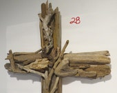 """Driftwood Cross """"Watching Winds"""" Special Order for Tracy (May 18th), (ECC)"""
