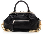 3 Days 50% Sale - Marc Jacobs Black Orchid Leather Daydream Stam Bag - Rare