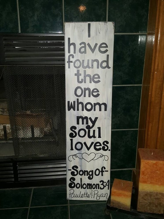 Large - Song of Solomon - Wood Sign
