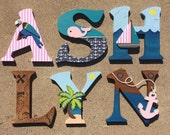 Nautical Wooden Letters, ...