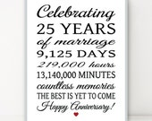 25th ANNIVERSARY 25 Years Parents Anniversary Sign DiY Personalize LARGE POSTER Party Banner Printable Digital File Quick Gift 8x10 20x24