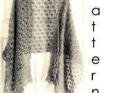 30%OFF Christmas Sale Crochet pattern Pdf- lacy crochet shawl