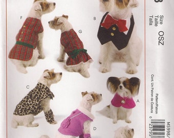 McCall's Crafts Sewing Pattern M5998 - Pet Clothes