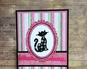 Blank card, All occasion card, Handmade card, greeting card, Stamped