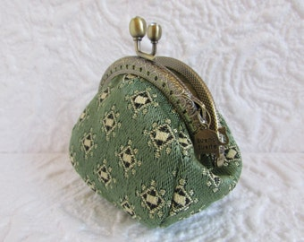 121A - Coin purse - Fabric with Metal Frame, handmade, wallet
