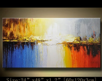 Abstract Painting, Wall Decor, Original Painting, Abstract Landscape, Abstract Canvas Art, Large Painting, Palette Knife Art, Abstract Art