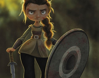Viking Shieldmaiden - Print