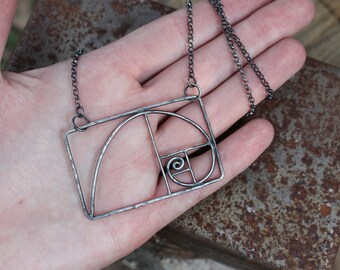 Sterling Golden Ratio Necklace