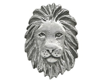 2 African Lion 1 inch ( 25 mm ) Pewter Metal Buttons