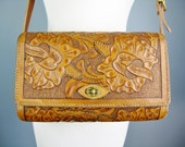 Mexican Tooled Leather Sh...