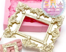 Big Victorian Embellishment Frame Fondant Mold Chocolate Wax Soap Candy fimo Polymer Clay Silicone Mold 415L* BEST QUALITY