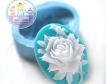 Rose Flower Cameo 25x18mm Bakery Flexible Push Mold 175m* BEST QUALITY
