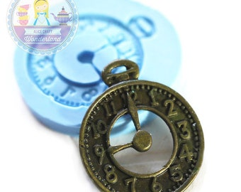 Clock Charm 25mm Bakery Silicone  Flexible Push Mold 141s* BEST QUALITY
