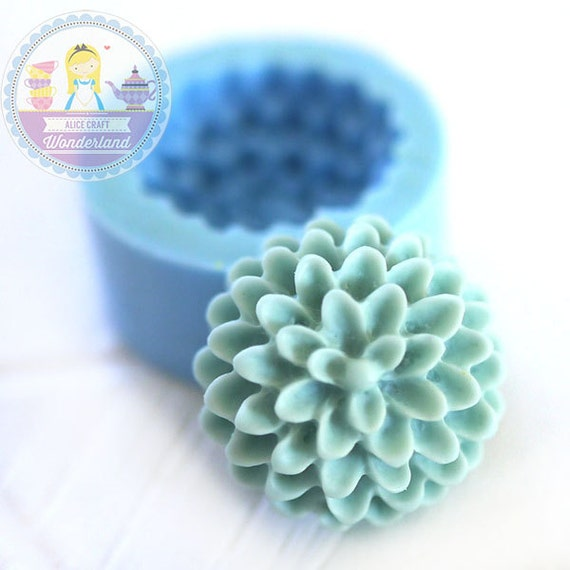 Pom Pom Chrysanthemum Flower 15mm Bakery Silicone Flexible