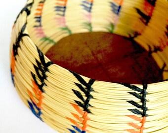 Native Grass Sewn Basket Bowl