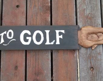 GOLF SIGN, Handcrafted, vintage, custom sign