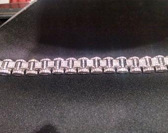 W@W!!! Ladies, Mens, Heavy, 138 Gram, White, Gold, 27 Carat, Diamond, Bracelet