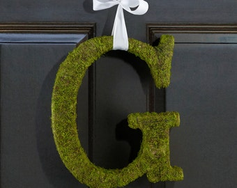 Moss Covered Letters Ideal for DIY Wedding Door Decorations or Home Decorations