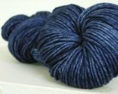 Merino Wool Yarn Blue Ind...