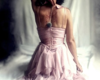 Vintage dusty pink in tulle and silk from Zestria's Closet