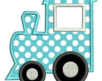 Train Applique Embroidery Design - Instant Download