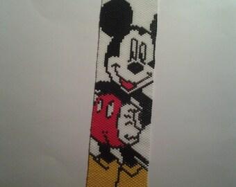 Beaded Mickey Mouse Bracelet cuff