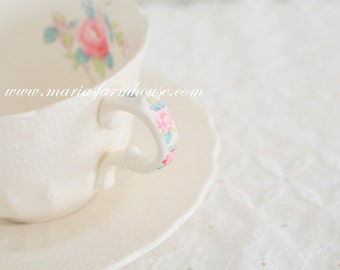 Vintage Spode's Jewel Copeland Spode England Tea Cup and Saucer, Billingsley Rose Pattern, Tea Party, Replacement China