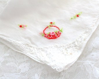 Vintage Handkerchief, Ladies' Handkerchief, Vintage Wedding, Repurposed Lavender Sachets, Victorian Style, Tea Party