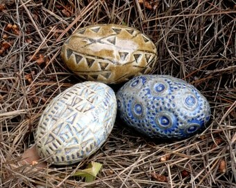 Eggs , Ceramic Pebbles, Bowl Fillers ,Ceramic Sculpture