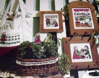 Homegrown With Love LA 913 Garden Gardeners Cross Stitch Pattern Leaflet