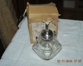 Antique Glass Oil Lamp Alcohol & box Dimensional Table Small