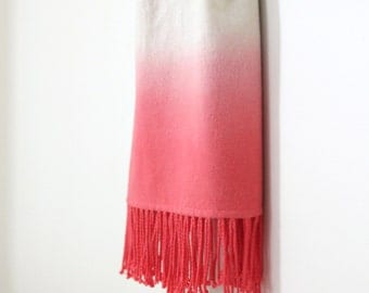 Dip Dye Blanket Scarf / Ombre Wrap / Ombre Shawls
